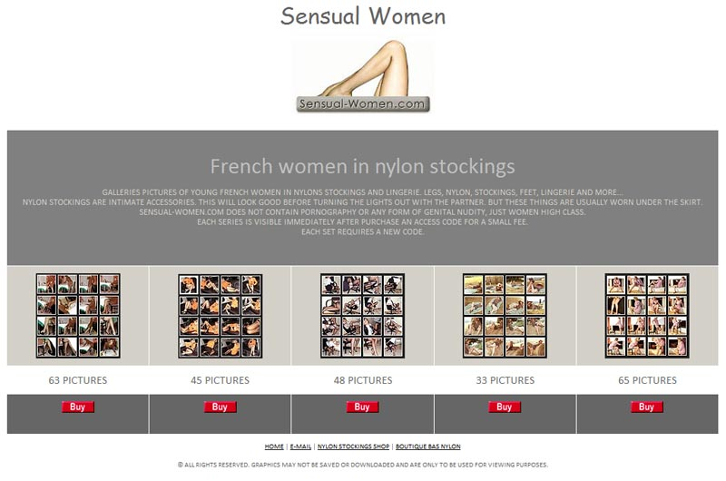 French Women in nylon stockings